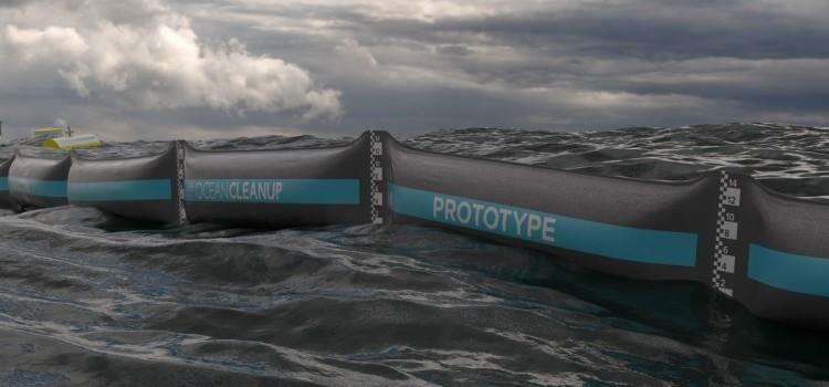 Тестируется первая барьерная система для сбора пластика в океане