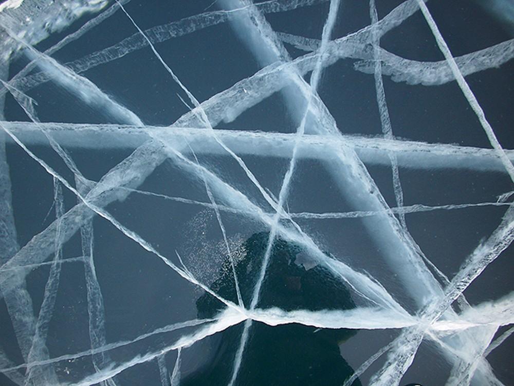 Лед Байкала. Фото: Дмитрий Шипуля