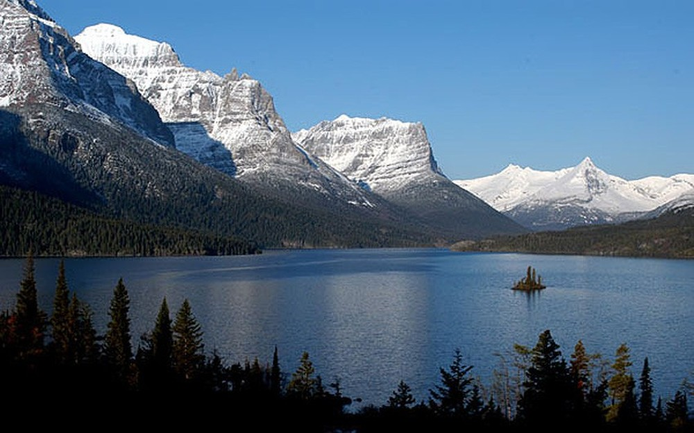 Национальный парк Глейшер. Вид на озеро Святая Мария