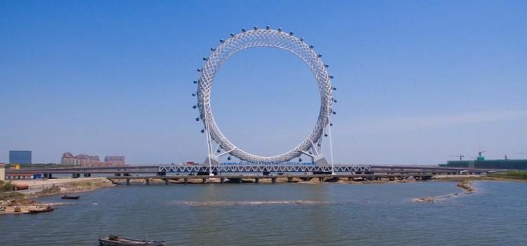 Китай создал уникальное колесо обозрения